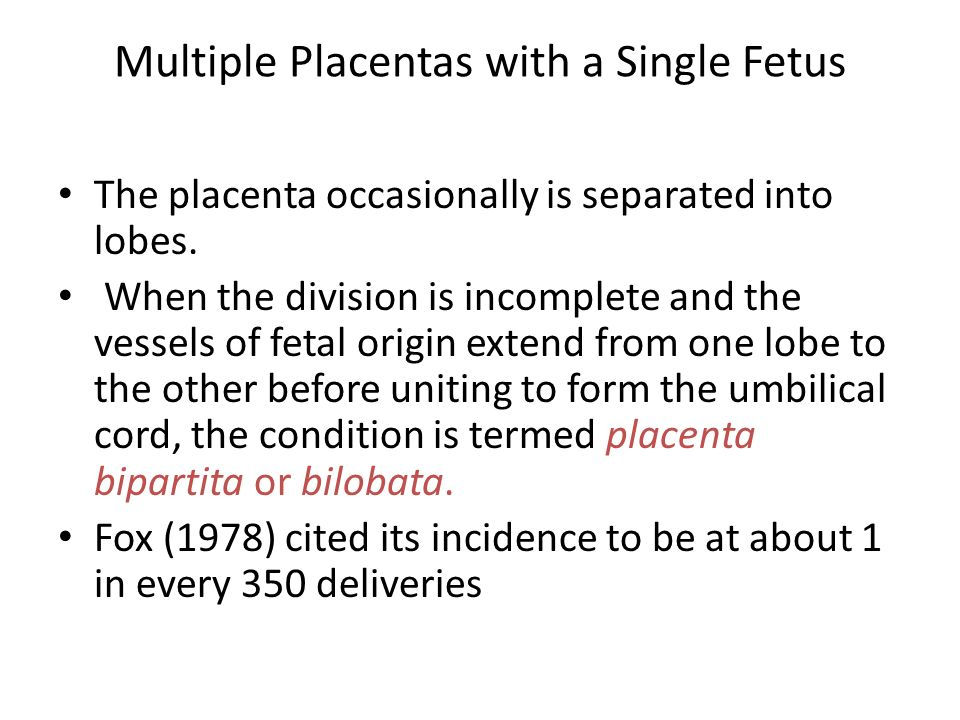 Multiple Placentas with a Single Fetus